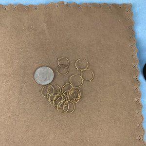 Eye $ Jewelry Jewelry - Vintage Handmade 14K All Gold Huggie 10MM Hoops